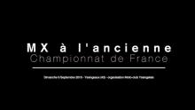 CHAMPIONNAT DE FRANCE MOTOCROSS À L'ANCIENNE – YSSINGEAUX 2018